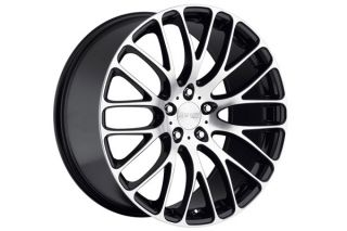"22"" Audi Q7 22x10 MRR HR6 Machined Black Wheels Rims"
