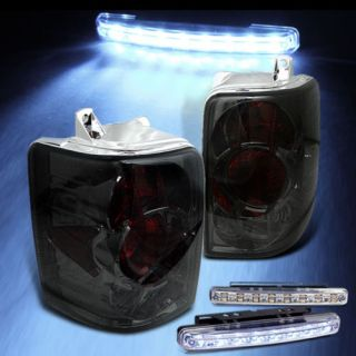 LED Bumper Fog Smoked 93 98 Jeep Grand Cherokee Tail Lights Smoke Lamp Pair Set