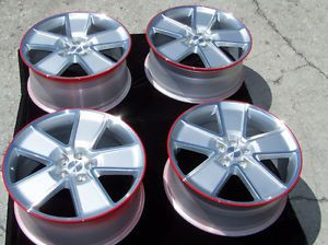 "21"" 8 5 9 5 Factory Chevrolet Camaro Wheels Rims Silver Red Line Synergy Package"