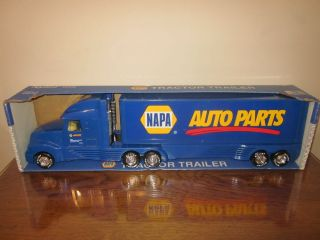 1990's Freightliner or Volvo Napa Auto Parts Van Semi Truck Tractor Nylint Toy