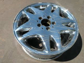"17"" Factory Mercedes s CL Class Chrome Wheel 65230 2204010202 S430 S500 CL500"