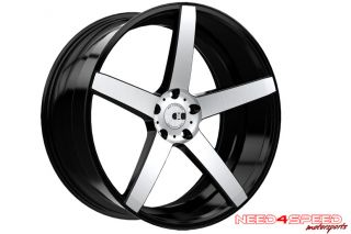 "20"" Ford Mustang GT XO Miami Concave Machined Staggered Wheels Rims"