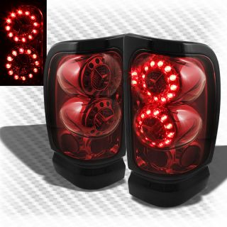 94 01 Dodge RAM LED Red Smoke Tail Lights Lamps Pair Brand New Left Right Set