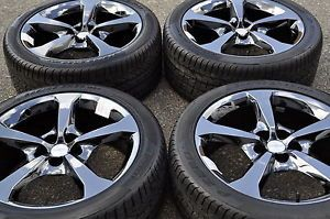 "20"" Camaro SS Black Chrome Wheels Rims Tires Factory Wheels 2013' 2014'"