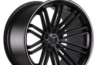 "New 20"" Nissan 350Z Rohana RC20 Black Deep Concave Staggered Wheels Rims"