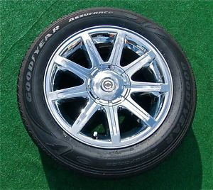 Set 4 Genuine Factory Chrysler 300C Hemi Chrome 18 inch Wheels 95 Tires 300