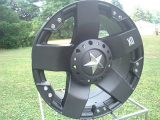 Black KMC Rockstar 20 x 8 5 Ford Chevy Dodge Wheels