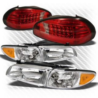 97 03 Grand Prix Crystal Headlights Red Clear Philips LED Perform Tail Lights