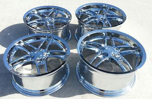 "18 19"" Chrome Deep Dish C6 Z06 Style Corvette Wheels C5 C6 Fitment"