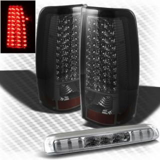 99 02 Silverado 99 03 Sierra LED Tail Lights LED 3rd Third Smoke Brake Lamp Set