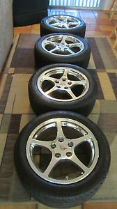 Excellent C5 Corvette Wheels 5 Spoke Wheels Tires 2001 2004 Great Shape