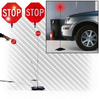 Park 'N Place Garage Flashing Red LED Lights Stop Sign Guide Aid Safety Parking