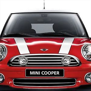 Mini Cooper Base Coupe Hardtop 2007 2010 Bonnet Hood Stripes Set White