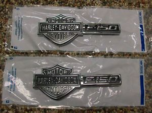 09 12 F 150 F150 Genuine Ford Parts Harley Davidson Fender Emblems Pair