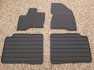 2009 09 Flex Genuine Ford Parts Black Rubber All Weather Floor Mat Set 4 PC