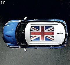 Mini Cooper Union Jack Sun Roof Decal Graphic New