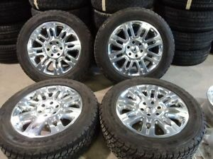 "Factory 20"" Ford F150 Platinum Wheels and Goodyear 275 55R20 Tires"