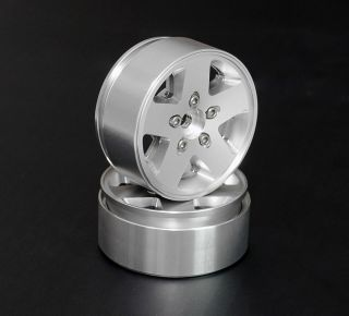 "RC4WD Jeep JK Stock 1 9"" Scale Aluminium Beadlock Wheel 12mm Hex Mounting"