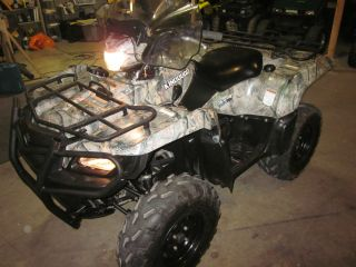2009 Suzuki King Quad 750i EFI w Power Steering and Factory Camo Great Tires