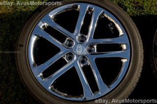 "2013 Kia Optima SXL 18"" Chrome Factory Wheels Tires Soul Amanti 2012 2011"