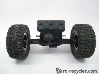 New Bright RC 1 10 Scale Jeep Wrangler Rubicon Chassis Front Axle and Tires Used