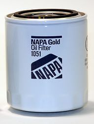 "1051 Napa Oil Filter Gold Spin on Lube Filter 4 338"" 3 66"" 538836R1 1069954M91"