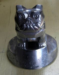 Mack Truck Bulldog Dog Hood Ornament Chrome on Base Tractor Trailer 14MF45 87931