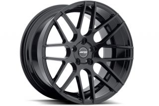 "19"" Ground Force GF07 Concave Black Wheels Rims Fits Benz W204 C250 C300 C350"