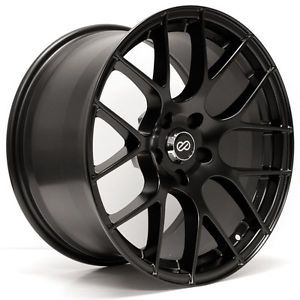 18 Enkei Raijin Rims Wheels Matte Black 18x9 5 5x114 3 15