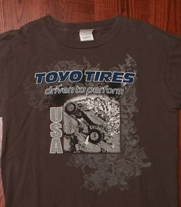 Toyo Tires Manufacturer Passenger Truck SUV Racing Commercial Grey T Shirt Small