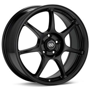 17 Enkei Fujin Black Rims Wheels Civic RSX Mazda3 MX5