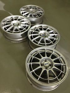 4 Enkei RCT 1 NTO 3 Racing Sport 17 Alloy Wheels Rims Caps 4x100 Silver Honda