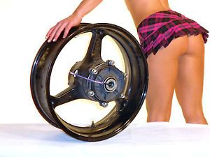 "Rear Wheel 08 Honda CBR600RR 17"" MT5 50 Enkei Rim Black CBR 600RR 600 07 09"