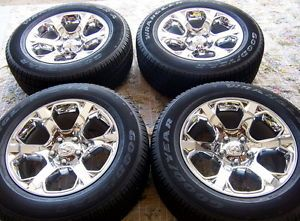 "4 New Factory 2013 20"" Dodge RAM 1500 Chrome Alloy Wheels Rims Tires"