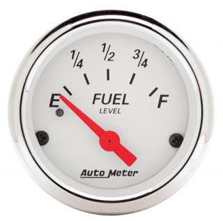 Auto Meter 1317 Arctic White Fuel Level Gauge