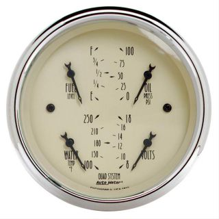 Auto Meter Antique Beige Analog Gauge Kit 1819