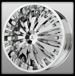 "22"" x 9 5"" Verde V28 Titanio Chrome Enclave Traverse Escalade Impala Wheels Rims"