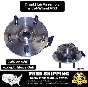Premium Front Wheel Hub Bearing Assembly RAM 1500 4 Wheel ABS w 2 yr Warranty
