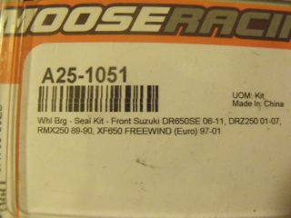 Suzuki DR650 Front Wheel Bearings Moose Racing