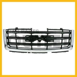 07 10 GMC Sierra 1500 Chrome MLDG Black Grille Grill Assembly New Replacement