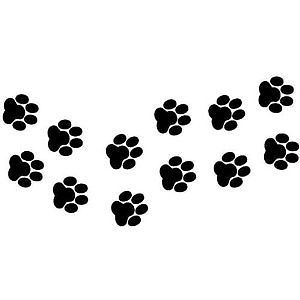 Paw Prints Car Window Graphics Vinyl Decal