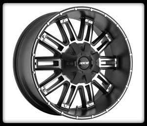 "17"" MKW Offroad M80 Black Rims Toyo 35x12 50x17 Open Country AT2 Tires Wheels"