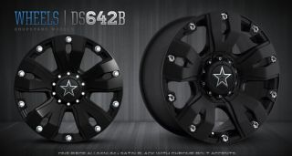 "18"" x 9"" Dropstars Black Rims Toyo 38x13 50x18 Open Country MT Tires Wheels"