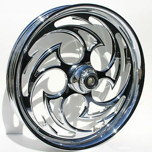 "Harley Davidson 21"" inch Chrome Wheel by FTD Customs Harley Custom Wheel"