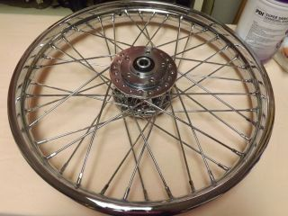 Harley Davidson 21 inch Chrome Spoke Wheel New Dual Dic Chopper