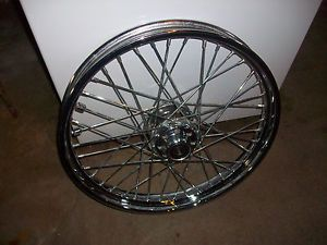 Harley Steel Chrome Spoked Wheel 43662 80B 40 Spoke 21 inch T 21 2 15 Nice