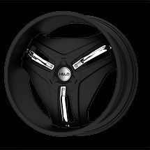 "20"" x 8 5"" Helo HE849 849 Gloss Black with Chrome Accents Wheels Rims 5 or 6 Lug"
