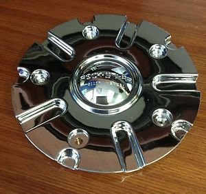 "Rock Starr 557 Dynasty Chrome Wheel Center Cap 22 26"" 5 Lug Wheels CAP557L180"
