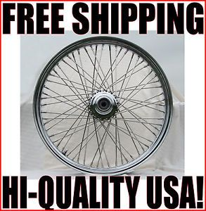 "DNA Chrome 21 x 3 5"" 60 Spoke Front Wheel Harley Softail Wide Glide Chopper"