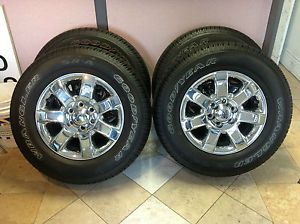 "Ford F150 18"" Chrome Clad Rims Wheels Tires New Take Offs"
